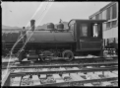 Davenport locomotive at Okahukura, owned by the Public Works Department. ATLIB 7635.png