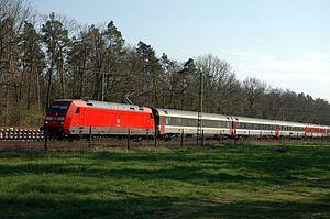 Rätia (train) - EC 6 in Baden, Germany in 2005