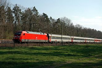 Rätia (train) - EC 6 in Baden, Germany in 2005