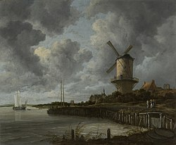 Jacob van Ruisdael: The Windmill at Wijk bij Duurstede
