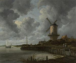 Windmill at Wijk bij Duurstede - Image: De molen bij Wijk bij Duurstede Rijksmuseum SK C 211