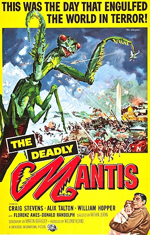 The Deadly Mantis - Film poster by Reynold Brown