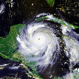 Satellite image of Hurricane Dean, August,2007