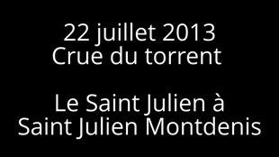 File:Debris flow - 22 juillet 2013 - Crue torrentielle a Saint Julien Montdenis.webm