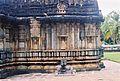 Decorative swirls and relief on mantapa wall at Amruteshvara temple in Amruthapura, Chikkamagaluru district2.JPG