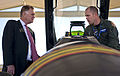 Defense.gov News Photo 101117-F-6655M-003 - Deputy Secretary of Defense William J. Lynn III is given a mission brief of the F-16 Fighting Falcon jet fighter by Air Force Maj. Bryan Unks of.jpg