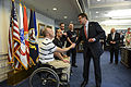 Defense Secretary Ash Carter meets with wounded warrior members of the U.S. Paralympic Team at the Pentagon, May 6, 2015 150506-D-AF077-023c.jpg