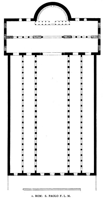 Basilica of Saint Paul Outside the Walls - Plan of the basilica