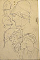 Dehodencq A. - Pencil - Etude de têtes d'après l'antique - 10x15cm.jpg