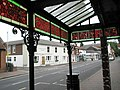 Delightful stained glass canopy at the Royal Arms in Stoke Road - geograph.org.uk - 1426299.jpg