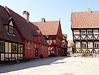 Outdoor Museum The Old Town of Aarhus.