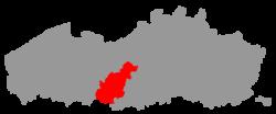 Location of the Denderstreek in Flanders