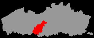 Denderstreek - Location of the Denderstreek in Flanders
