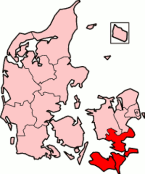 Storstrøm County - Storstrøm County in Denmark