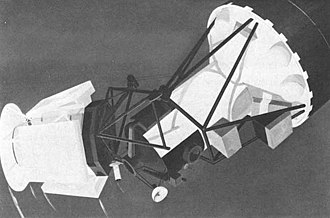 Apollo Telescope Mount - Illustration of the telescope cluster and solar array deployment