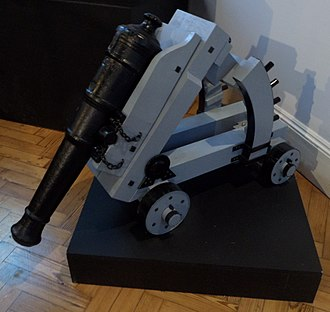 Koehler Depressing Carriage - Extant example displayed at the Royal Engineers Museum, Kent