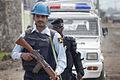 Des éléments de l'Unité de police constituée (FPU) et de la Police nationale congolaise (PNC) en patrouille à Goma, province du Nord Kivu, 7 décembre 2011. (6476017293).jpg