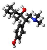 Ball-and-stick model of desvenlafaxine