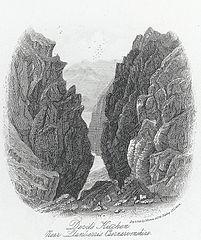 Devils' Kitchen, near Llanberis, Caernarvonshire