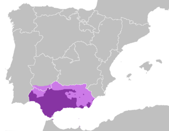 Andalusian Spanish - Andalusian area of use and Andalusian special sibilants area