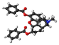 Dibenzoylmorphine molecule ball.png