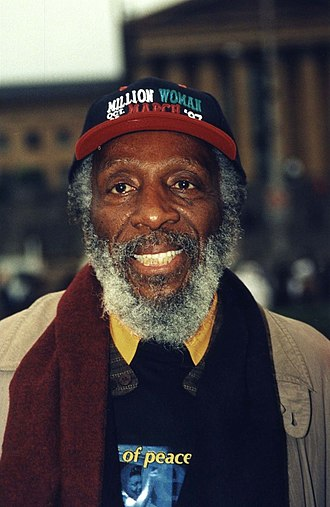 Dick Gregory - Gregory at the Million Woman March in 1997