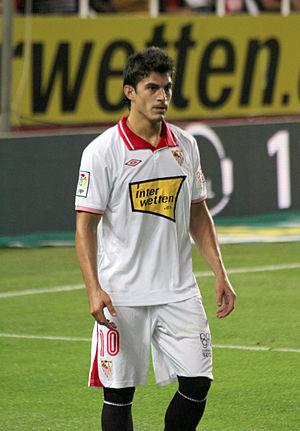 Diego Perotti - Perotti in action for Sevilla in 2012