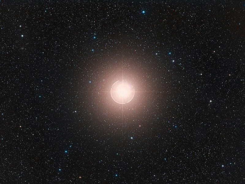 Zdjęcie Betelgezy (Digitized Sky Survey)