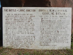 Battle of Bataan - Historical Marker (6 January 1942)