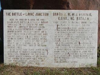 Battle of Bataan - Historical Marker (6 January 1942)