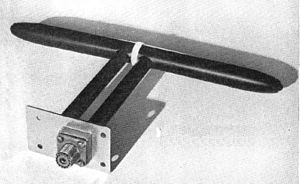 Dipole antenna - UHF half-wave dipole aircraft radar altimeter antenna
