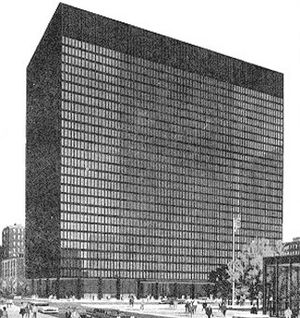 United States District Court for the Northern District of Illinois - The Dirksen Federal Building in Chicago, one of four locations where the United States District Court for the Northern District of Illinois holds sessions.