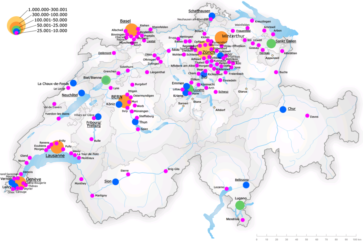 List of cities in Switzerland Wikipedia