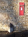 Disused postbox and marker stone, Otterburn - geograph.org.uk - 618773.jpg