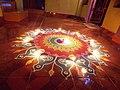 Diya Diwali rangoli in goa.JPG