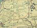 Dlouhá cesta, Langweg, Praha. Zákres kapacitní komunikace, cca 1944.jpg