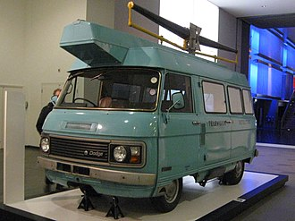 Television licensing in the United Kingdom - A Dodge television detector van.