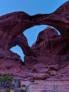 Double Arch (Utah) Natural arch in Utah, United States