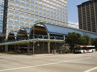 Downtown Transit Center (METRORail station) - Image: Downtown Transit Center Houston TX