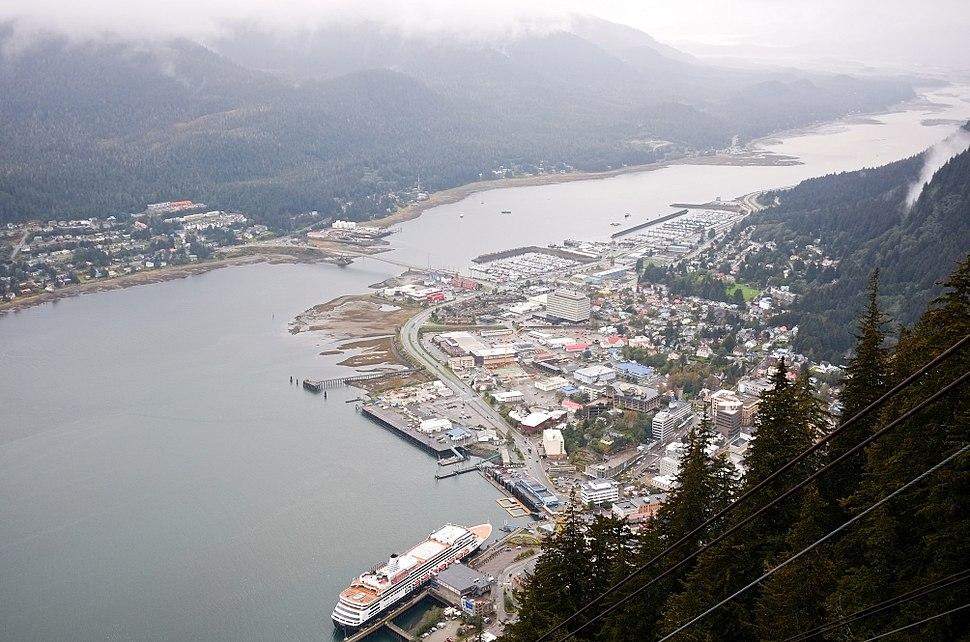 Downtown Juneau and Douglas Island