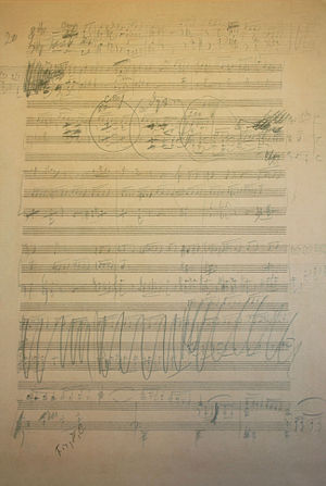 Draft of Tchaikovsky's Symphony No. 6 (8589411916).jpg