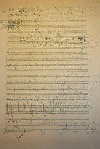 Symphony No. 6 (Tchaikovsky) - Tchaikovsky's draft of the Sixth Symphony