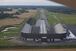 """Dragracing track on one end of the airfield of Tierp. I wanted to do a toch & go on the other end, but some guys were flying there model planes there, so I did a """"go around"""". (10759056576).jpg"""