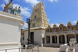 Dravidian style gopura (tower) over entrance into the Narasimha Swamy temple at Seebi.jpg