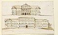Drawing, Two Elevations of the Central Part of a Palace, 1792 (CH 18355789).jpg