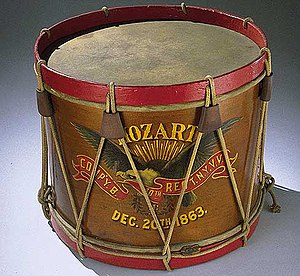 Drum - Drum carried by John Unger, Company B, 40th Regiment New York Veteran Volunteer Infantry Mozart Regiment, December 20, 1863
