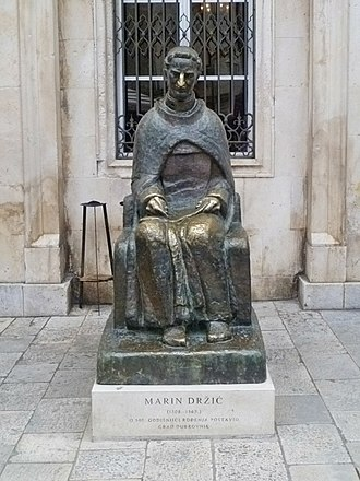 Marin Držić - Statue of Marin Držić in Dubrovnik, Croatia