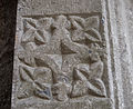 Dunmore Priory Doorway Right Jamb Lower Quatrefoil Carving 2010 09 16.jpg