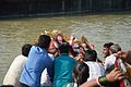 Durga Idol Immersion - Baja Kadamtala Ghat - Kolkata 2012-10-24 1503.JPG