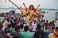 Durga Idol Immersion Procession - Baja Kadamtala Ghat - Kolkata 2015-10-22 6588.JPG